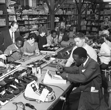 West Indian workers at the GEC, Swinton, South Yorkshire, 1962.  Creator: Michael Walters.