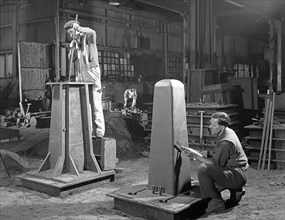 Two stages of moulding a steel casting, Rotherham, South Yorkshire, 1963. Artist: Michael Walters