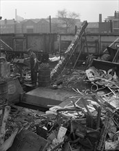 Recycling scrap, Rotherham, South Yorkshire, 1965.  Artist: Michael Walters
