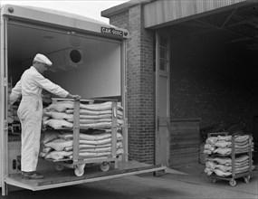 Loading area at the Danish Bacon company, Kilnhurst, South Yorkshire, 1968. Artist: Michael Walters