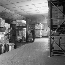 Workers in a cold store at Modern Foods, Mexborough, South Yorkshire, 1973. Artist: Michael Walters