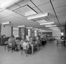 Tea room, Montague Hospital, Mexborough, South Yorkshire, 1977. Artist: Michael Walters