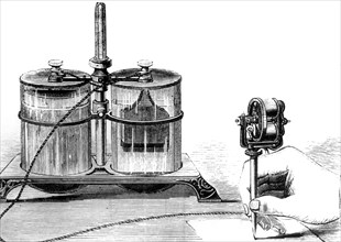 Edison's electric pen, c1876. Artist: Unknown