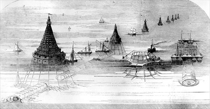 Hector Horeau's proposed Channel Tunnel, 1857. Artist: Unknown