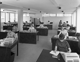 Administration office at Huntsman House, Leeds, West Yorkshire, 1968. Artist: Michael Walters