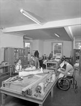 Retraining at a paraplegic centre in Pontefract, West Yorkshire, 1960. Artist: Michael Walters