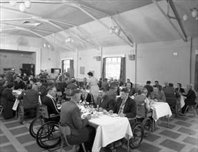 Dining hall of the CISWO paraplegic centre, Pontefract, West Yorkshire, 1960. Artist: Michael Walters