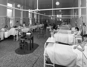 Patients on a women's surgical ward, Montague Hospital, Mexborough, South Yorkshire, 1968. Artist: Michael Walters