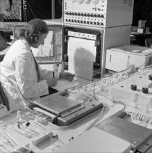 A Sequential Multi Analyser Machine at Rotherham General Infirmary, 1967.  Artist: Michael Walters