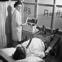 Nurse using a Cardiopan machine, Rotherham, South Yorkshire, 1967. Artist: Michael Walters