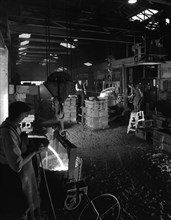 Casting at AT Green & Sons steel foundry, Rotherham, South Yorkshire, 1963. Artist: Michael Walters
