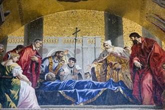 Venetians pay tribute to the body of St Mark. Artist: Samuel Magal