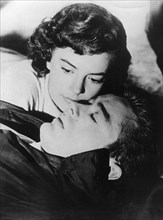 American actors James Dean and Natalie Wood in a scene from 'Rebel Without a Cause', c1955. Artist: Unknown