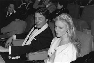 Alain Delon et Géraldine Danon, 1975