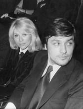 Mireille Darc et Alain Delon, 1972