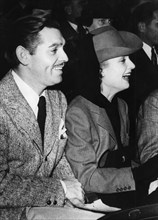American film stars Clark Gable and Carol Lombard in Hollywood, Los Angeles, USA, c1936-1942. Artist: Unknown