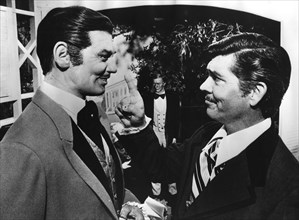 Two Clark Gable look-alikes, Stars Hall of Fame Wax Museum, Orlando, Florida, USA, late 1970s. Artist: Unknown