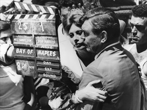 Clark Gable and Sophia Loren about to film a scene in 'It Started in Naples', 1959. Artist: Unknown