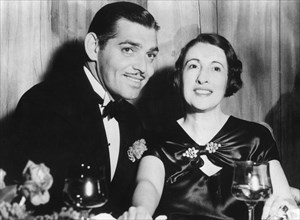 Clark Gable, American actor and film star, with his second wife, Ria Langham, 1930s. Artist: Unknown