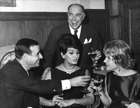 Italian actress and film star Sophia Loren socialising, c1960s(?). Artist: Unknown