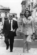 Sophia Loren and her husband Carlo Ponti arriving at the Capitol, Rome, Italy, c1970s(?). Artist: Unknown