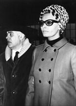 Sophia Loren and Carlo Ponti depart Rome's Fiumicino Airport for Switzerland, c1960s(?). Artist: Unknown