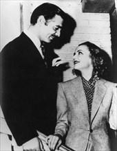 American film stars Clark Gable and Carole Lombard, c1936-c1942. Artist: Unknown