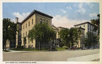 City Hospital, Minneapolis, Minnesota, USA, 1915. Artist: Unknown