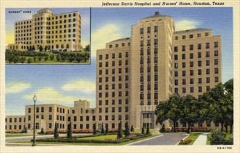 Jefferson Davis Hospital and nurses' home, Houston, Texas, USA, 1940. Artist: Unknown