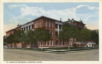 St Joseph's Infirmary, Houston, Texas, USA, 1918. Artist: Unknown
