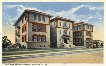 Southern Pacific Hospital, Houston, Texas, USA, 1914. Artist: Unknown