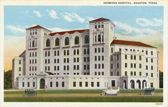 Hermann Hospital, Houston, Texas, USA, 1926. Artist: Unknown