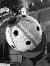 Construction of deep sea inspection chambers, Markham & Co, Chesterfield, Derbyshire, 1966. Artist: Michael Walters