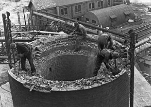 Demolition work Manvers Main colliery, Wath upon Dearne, South Yorkshire, September 1956. Artist: Michael Walters