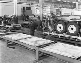 Packing section, International Harvester tractor factory, Doncaster, South Yorkshire 1966. Artist: Michael Walters
