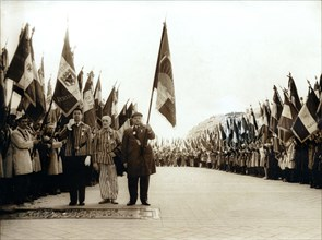 Anniversary ceremony of the liberation of Buchenwald concentration camp, Paris, 20th century. Artist: Unknown