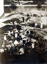 Trench digging, Warsaw, Poland, World War II, September 1939. Artist: Unknown