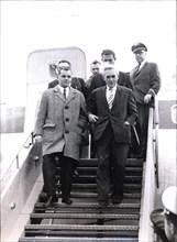 Dr Horst Schumann arriving for his war crimes trail, Frankfurt, West Germany, 1966. Artist: Unknown