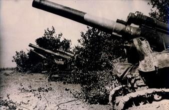 Artillery in position around Voronezh, south western Russia, 1943. Artist: Unknown
