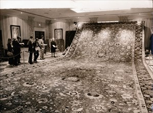 A Hitler carpet up for auction, Churchill Hotel, London, 13 November 1971. Artist: Unknown