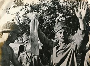 Italian troops surrender in Sicily, July 1943. Artist: Unknown