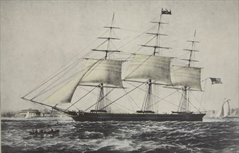 Clipper Ship  'Nightingale' , 1854, Currier & Ives (Colour Lithograph)
