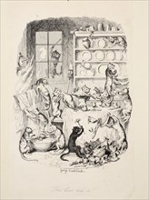 The Cat Did It, from The Greatest Plague of Life, pub. 1847. Creator: George Cruikshank (1792-1878).