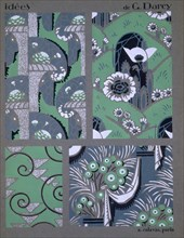 Wallpaper design, from 'Idees', c1925. Creator: Georges Darcy (fl.c. 1925).