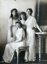 The four daughters of Tsar Nicholas II of Russia, 1910s. Artist: K von Hahn