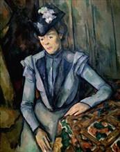 'Lady in Blue (Madame Cézanne)', c1900. Artist: Paul Cezanne