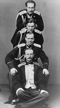 Grand Dukes Alexander Alexandrovich and Vladimir Alexandrovich of Russia, c1870-c1875(?). Artist: Sergei Levitsky