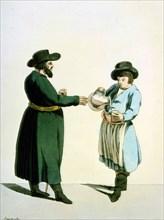 Kvass vendor, 1799.  Artist: Christian Gottfried Heinrich Geissler