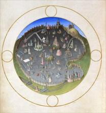 A plan of Rome, 1412-1416. Artist: Hermann Limbourg