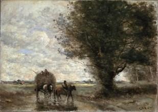 'The Haycart', 1865-1870.  Artist: Jean-Baptiste-Camille Corot